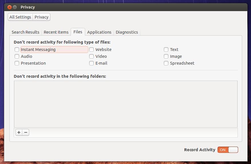 ubuntu 15.04 privacy on/off switch