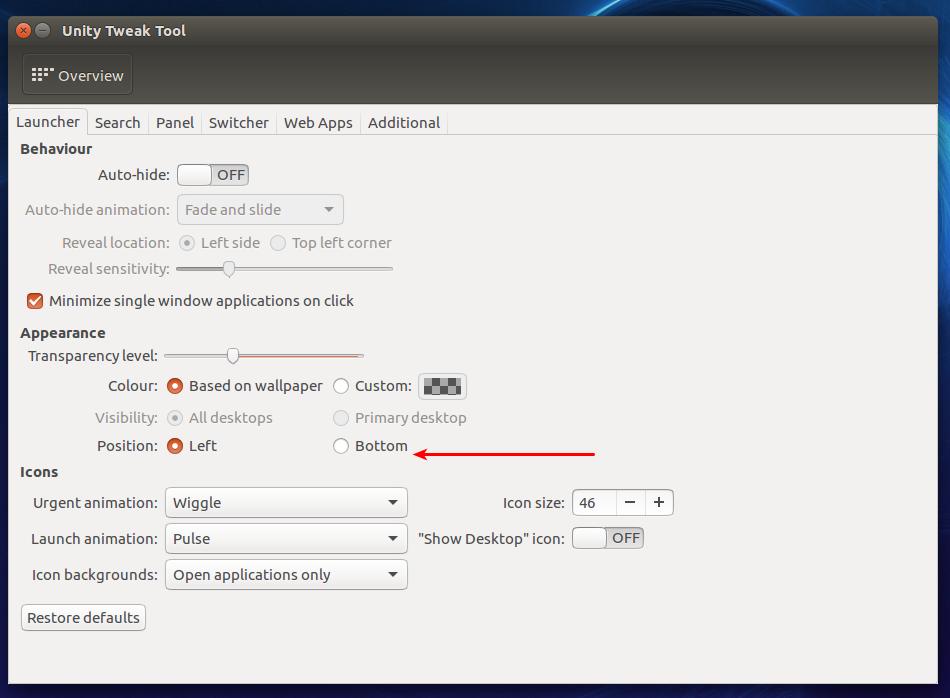 unity tweak tool in ubuntu 16.04 LTS