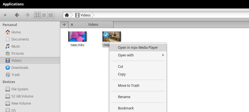 mpv media player linux