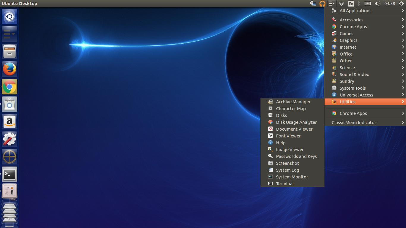 gnome ClassicMenu Indicator ubuntu