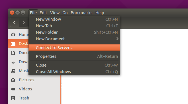 local menus in ubuntu 15.04